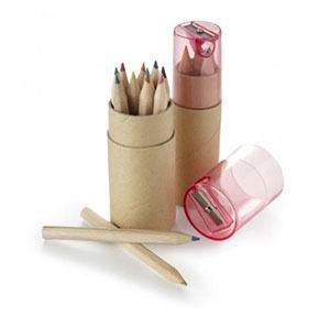Buntstift Werbeartikel mit Verpackung und Anspitzer