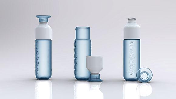 blaue Dopper Flaschen als Werbeartikel