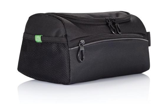 Schwarze Sporttasche als Werbetasche bedrucken