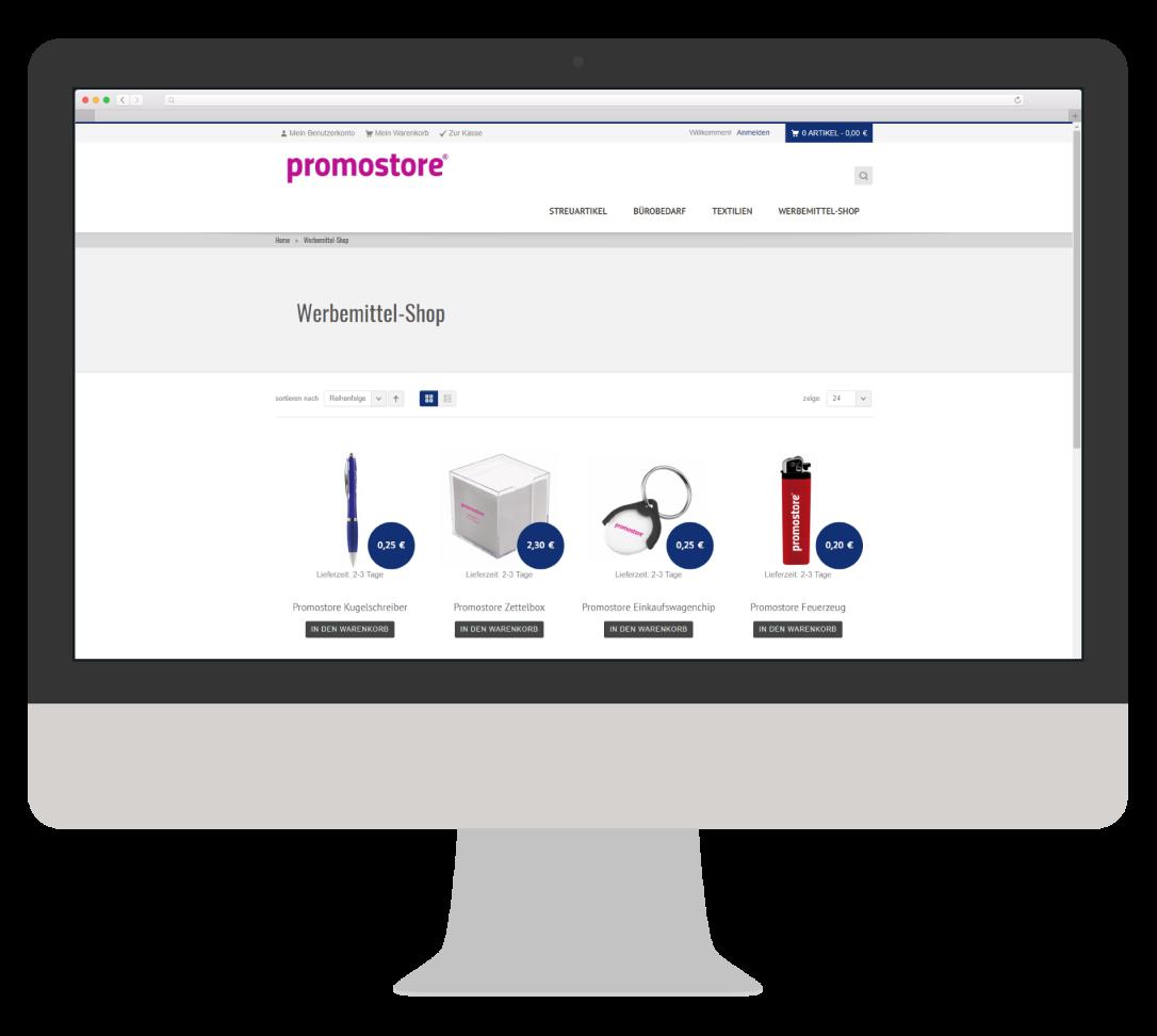 Werbeartikel Fulfillment Webshop