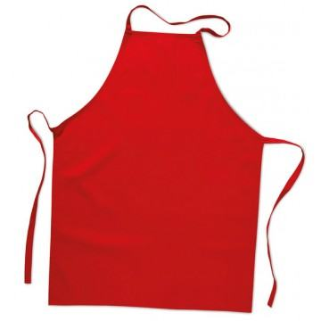 Rote Kochschürze