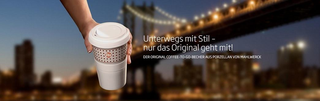 Immer mit Stil unterwegs - der original Coffe2Go Becher von Mahlwerck