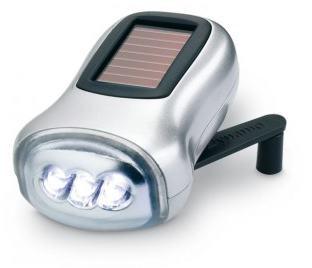Dynamo-Taschenlampe mit Solarzelle
