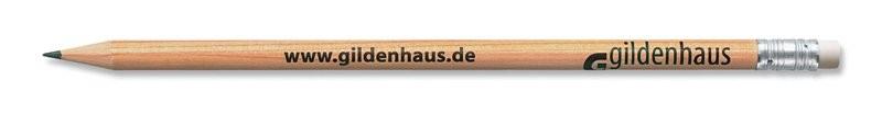 STAEDTLER runder Bleistift mit Radiertip natur