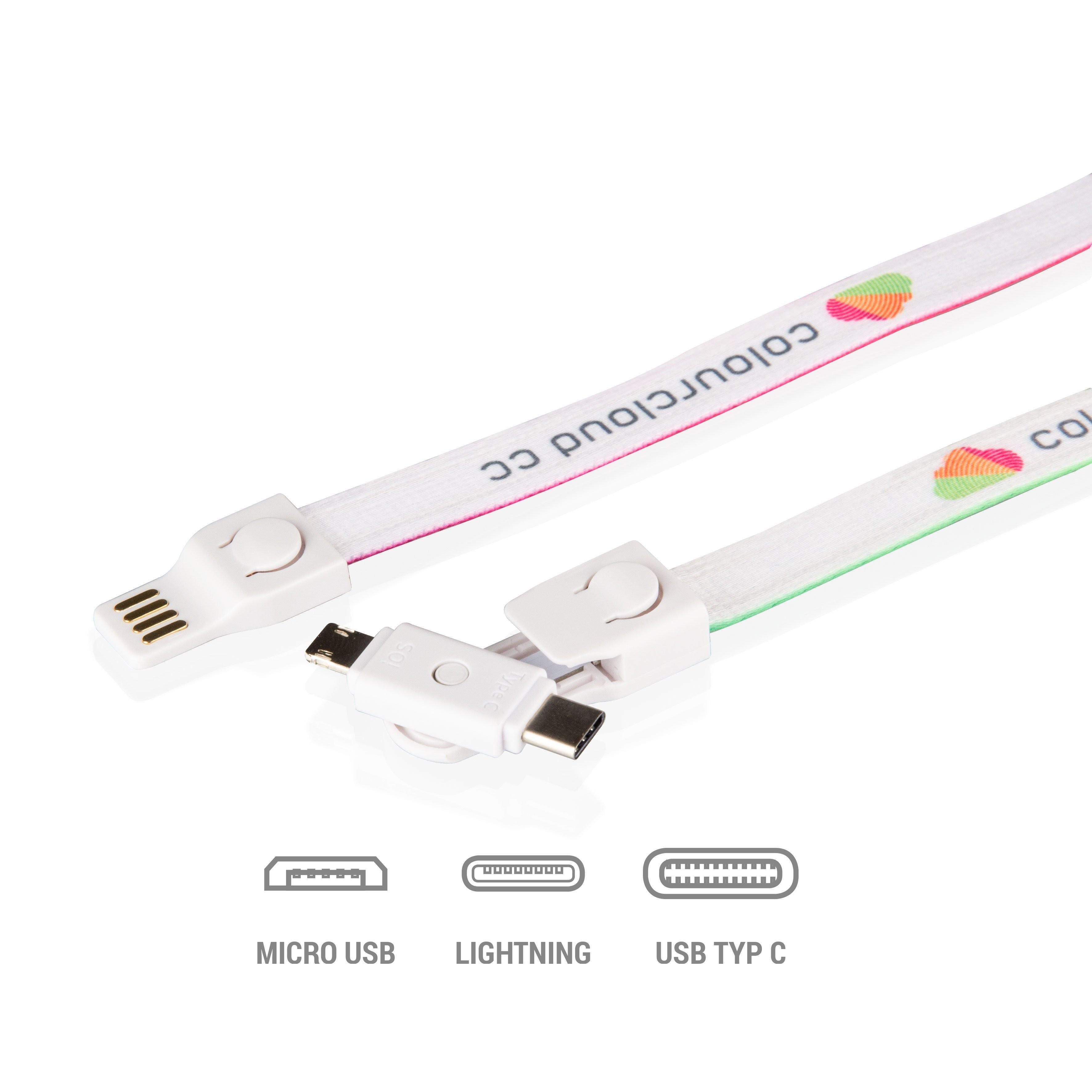 3-in-1 USB-Lanyard, Ansicht 3