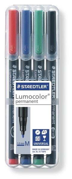 STAEDTLER Box mit 4 Lumocolor permanent M