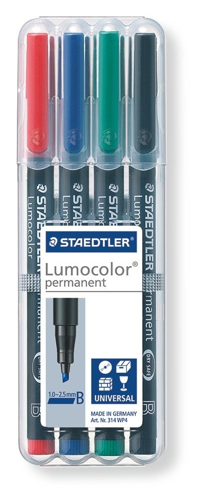 STAEDTLER Box mit 4 Lumocolor permanent B