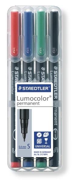 STAEDTLER Box mit 4 Lumocolor permanent S