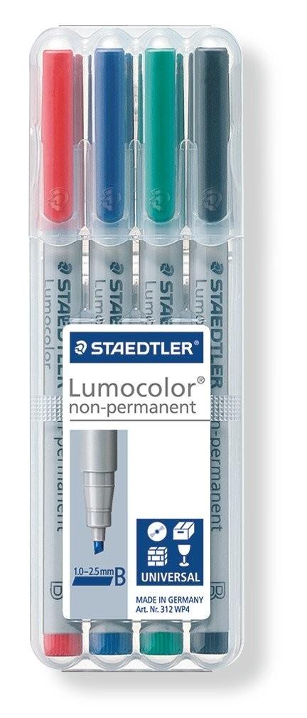 STAEDTLER Box mit 4 Lumocolor non-permanent B