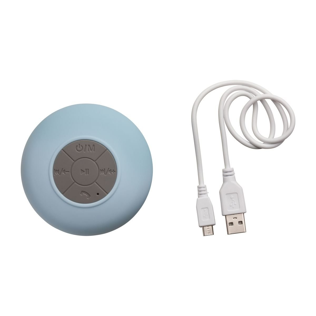 Bluetooth® Duschlautsprecher mit Radio REFLECTS-AVIGNON LIGHT BLUE, Ansicht 2