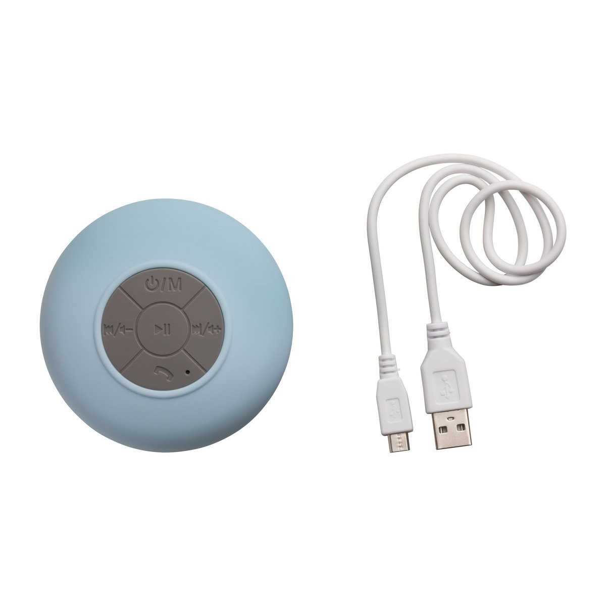 Bluetooth® Duschlautsprecher mit Radio REFLECTS-AVIGNON LIGHT BLUE, Ansicht 4