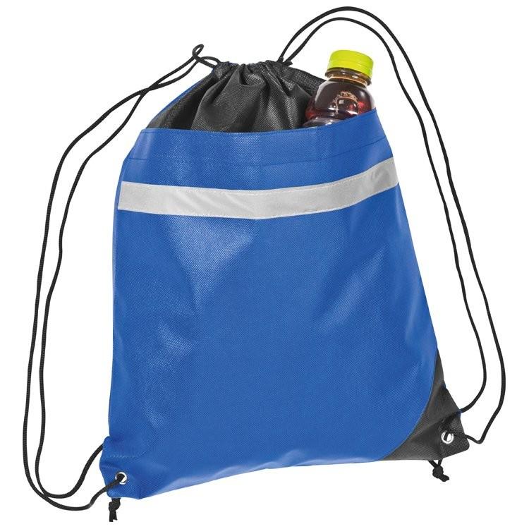 Non-Woven Gym-Bag mit reflektierendem Streifen