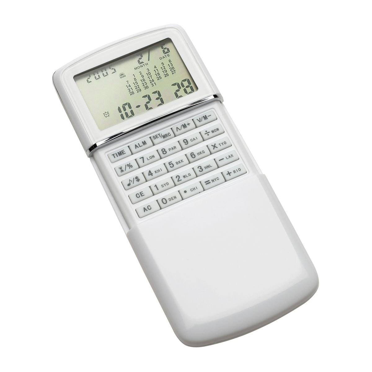 Taschenrechner mit Weltzeituhr REFLECTS-MASSENA WHITE, Ansicht 3