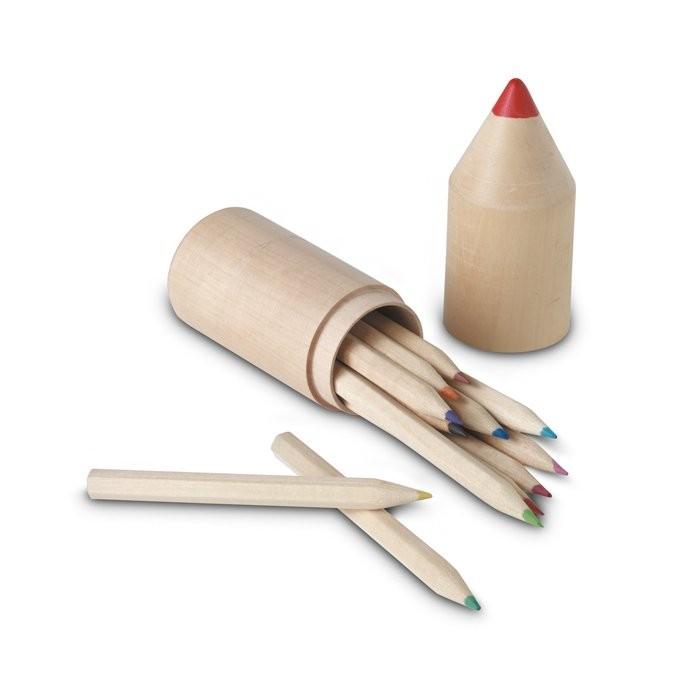 Holzbox mit 12 Stiften COLORET, Ansicht 3