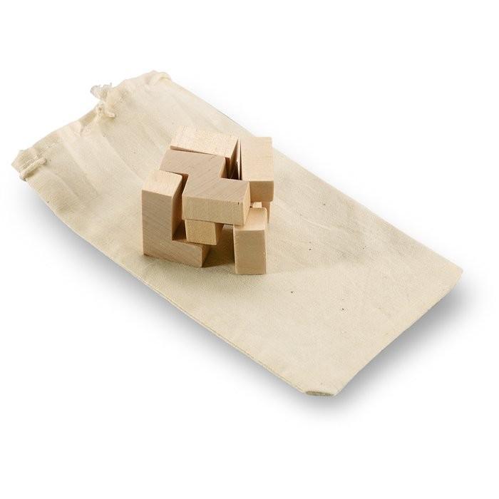 Holzpuzzle im Baumwollbeutel TRIKESNATS, Ansicht 4