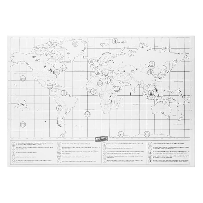 Weltkarte zum Freirubbeln BEEN THERE