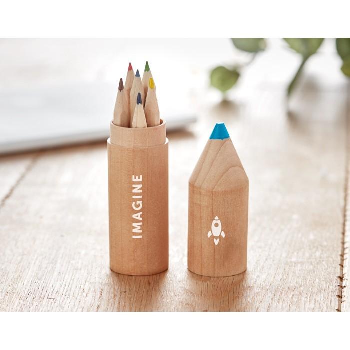 Holzbox mit 6 Stiften PETIT COLORET, Ansicht 2