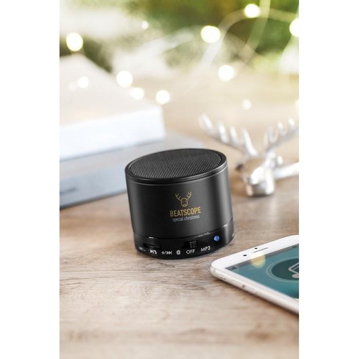 Bluetooth Lautsprecher, rund ROUND BASS, Ansicht 2