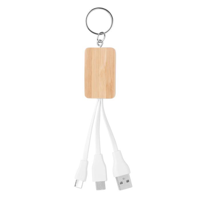 Schlüsselring-Ladekabel 3in1 CLAUER