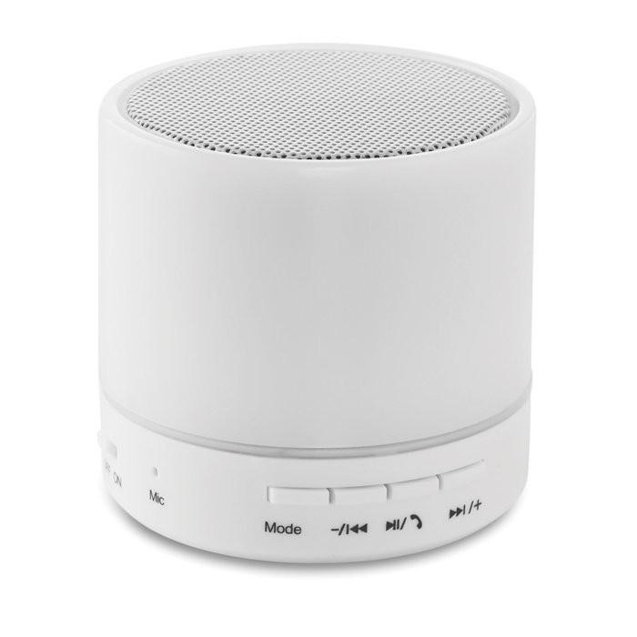 Bluetooth Lautsprecher LED ROUND WHITE