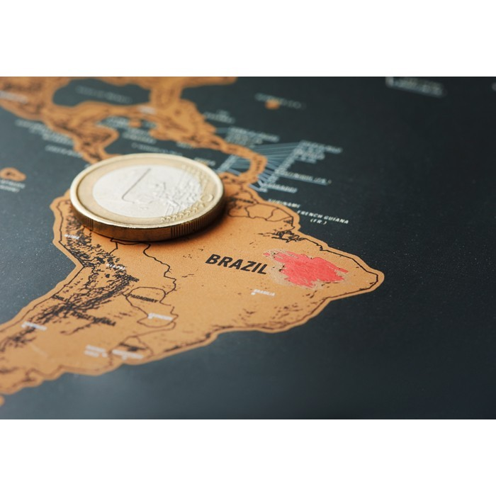 Weltkarte zum Freirubbeln BEEN THERE, Ansicht 8