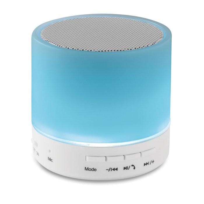 Bluetooth Lautsprecher LED ROUND WHITE, Ansicht 5