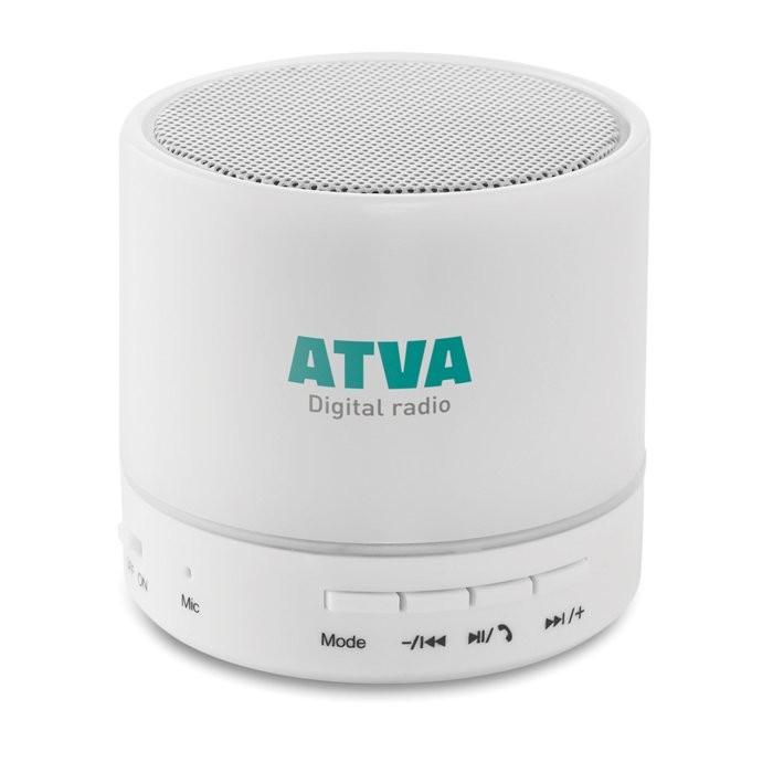 Bluetooth Lautsprecher LED ROUND WHITE, Ansicht 2