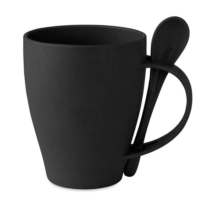 Kaffeebecher mit Löffel DUAL FIBRE