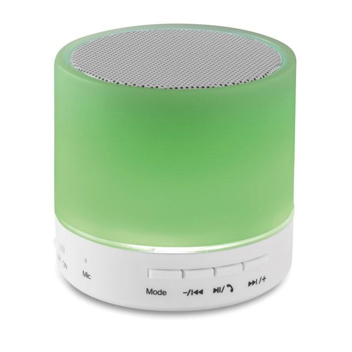 Bluetooth Lautsprecher LED ROUND WHITE, Ansicht 4