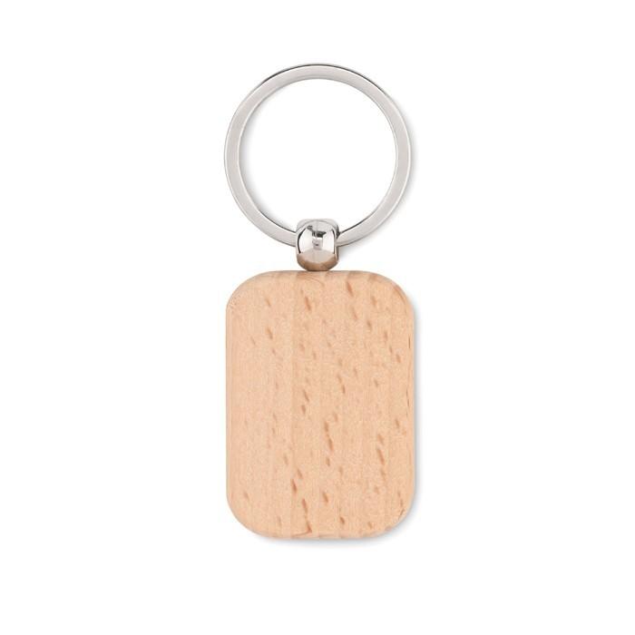 Schlüsselring Holz, eckig POTY WOOD