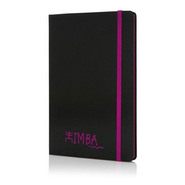A5 Notizbuch mit farbigem Seitenrand, Ansicht 3