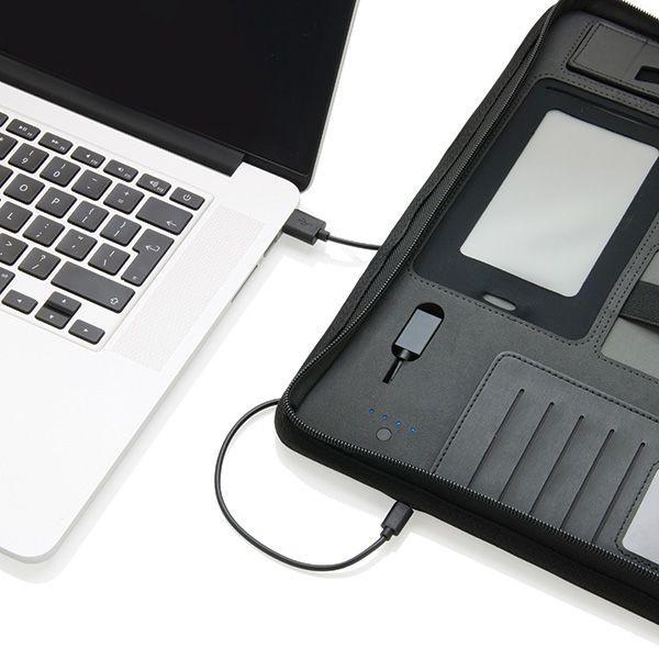 Tech Portfolio mit Powerbank 4000 mAh, Ansicht 5
