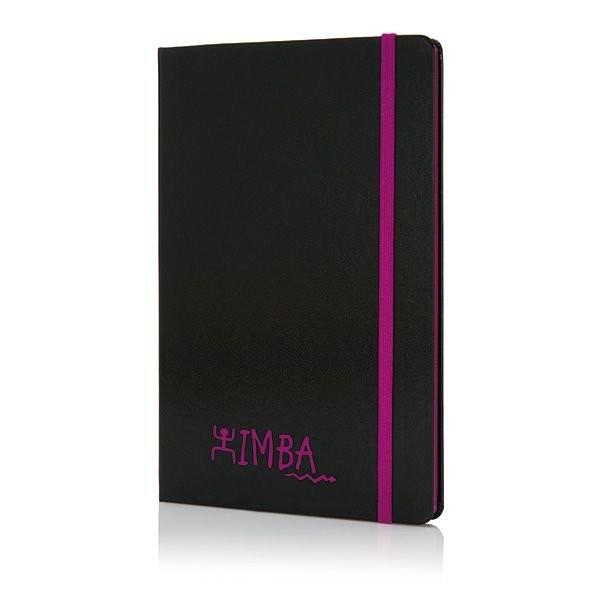 A5 Notizbuch mit farbigem Seitenrand, Ansicht 4