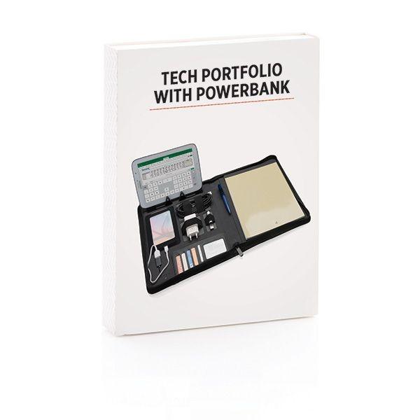Tech Portfolio mit Powerbank 4000 mAh