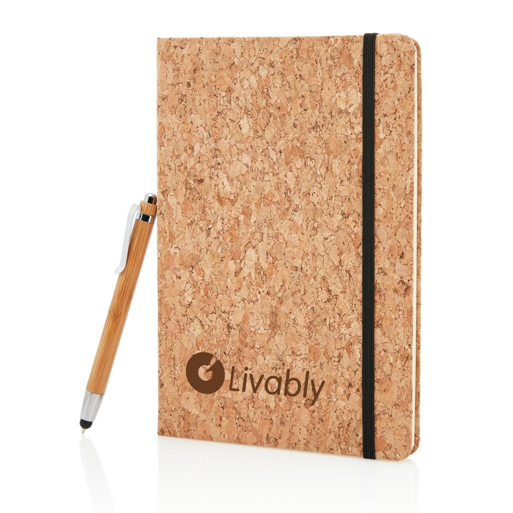 Kork A5 Notizbuch mit Bambus Stift und Stylus, Ansicht 15