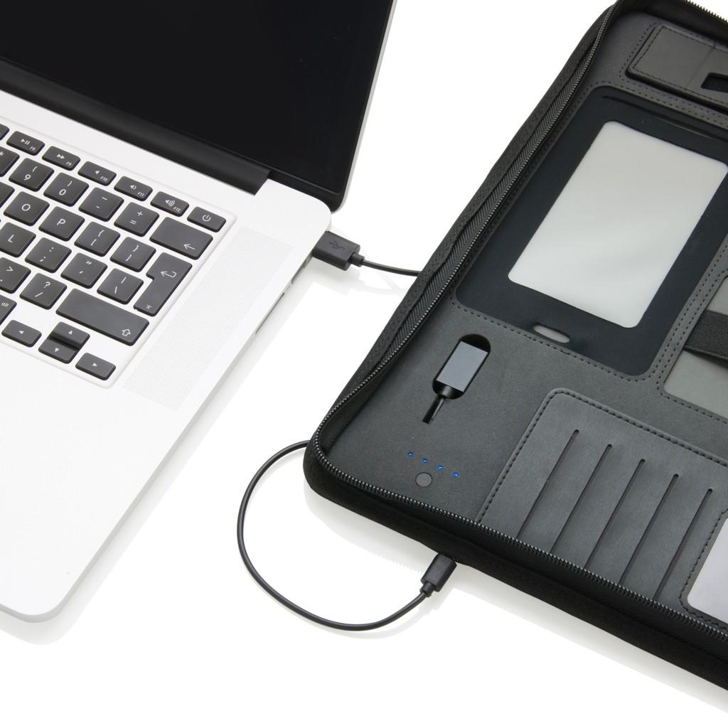 Tech Portfolio mit Powerbank 4000 mAh, Ansicht 10