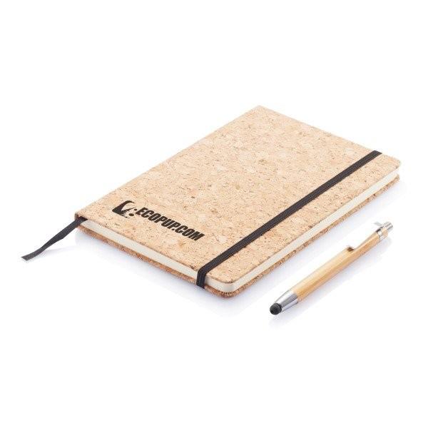 Kork A5 Notizbuch mit Bambus Stift und Stylus, Ansicht 16