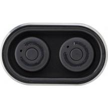 """Powerbank """"Listen Up"""" mit zwei Wireless Kopfhörern - Schwarz"""