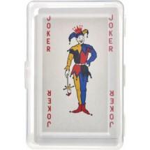 "Kartenspiel ""Ace"" in transparenter PET Box - Rot"