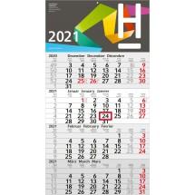 Einblatt-Monatskalender Budget 4 - hellgrau