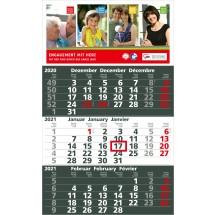 Einblatt-Monatskalender Solid 3 Complete - dunkelblau