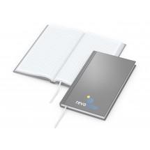 Note-Book Pocket Cover-Star matt-silber, Siebdruck-Digital x.press