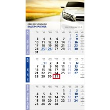 Einblatt-Monatskalender Logic 3 Post A/Logic 4 Post A Complete - blau