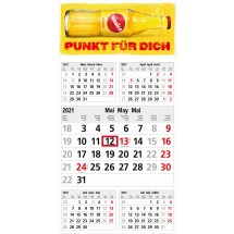 Einblatt-Monatskalender Commerce 5 Post A Complete - hellgrau
