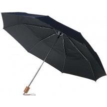 Taschenschirm mit Schutzhülle - Schwarz
