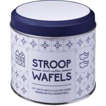 """Metalldose für Stroopwafel """"Amsterdam"""", 8 Stck. - Blau/Weiß"""
