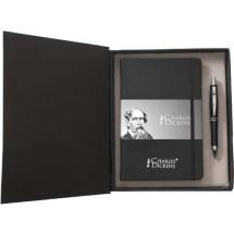 """Charles Dickens Schreibset """"Notary"""" - Schwarz"""