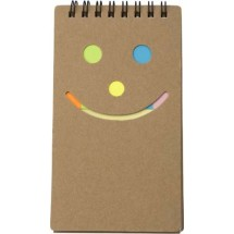 "Notizbuch ""Happy face"" - Braun"