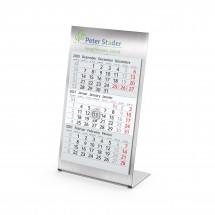 Tisch-Monatskalender Desktop 3 Steel Complete - hellgrau