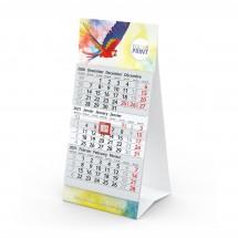 Tischkalender Mini 3 - hellgrau